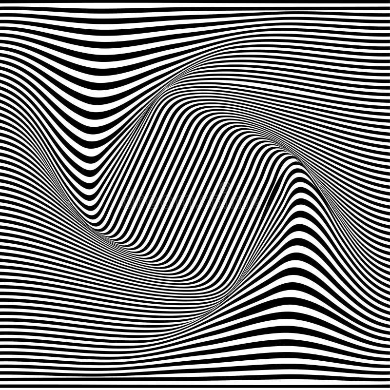 Un'illusione ottica in bianco e nero Illustrazione di vettore illustrazione di stock