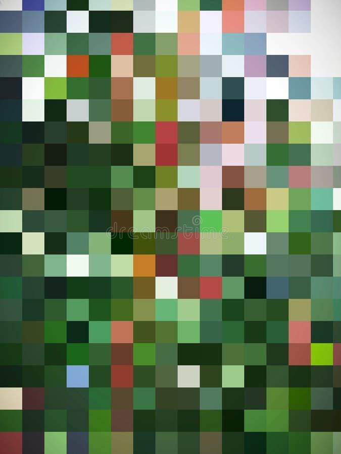 Un'illustrazione dei quadratini progettata digitalmente nei colori illustrazione vettoriale