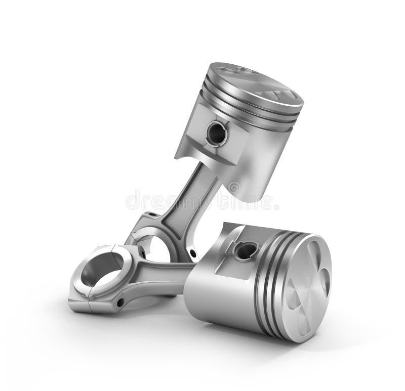 Un'illustrazione di due pistoni illustrazione di stock