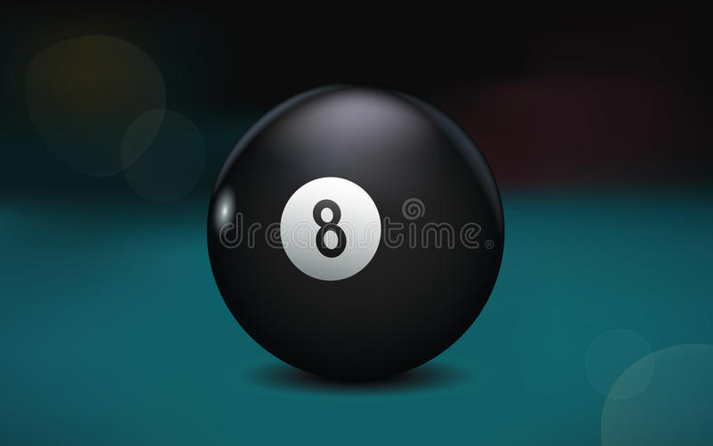 Un'illustrazione di 8 palle fotografie stock libere da diritti