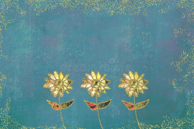 Un'illustrazione di tre fiori royalty illustrazione gratis