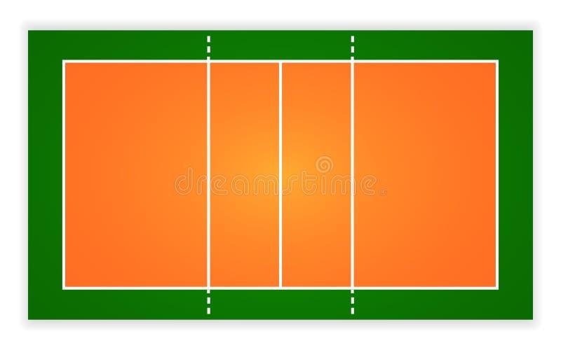 Un'illustrazione di una corte di pallavolo di vista aerea Vettore ENV 10 royalty illustrazione gratis