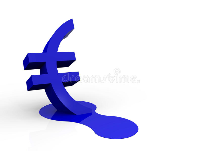 Un'illustrazione di una valuta commerciale di fusione illustrazione vettoriale