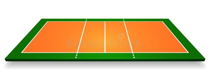Un'illustrazione di una vista aerea con la corte di pallavolo di prospettiva Vettore ENV 10 royalty illustrazione gratis