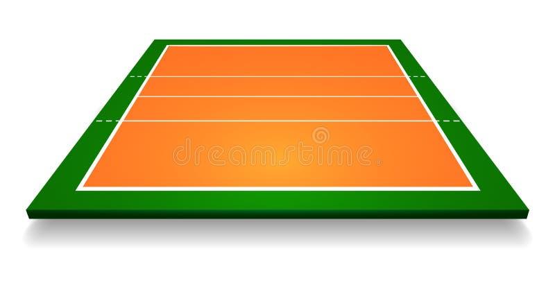 Un'illustrazione di una vista aerea con la corte di pallavolo di prospettiva Vettore ENV 10 illustrazione vettoriale