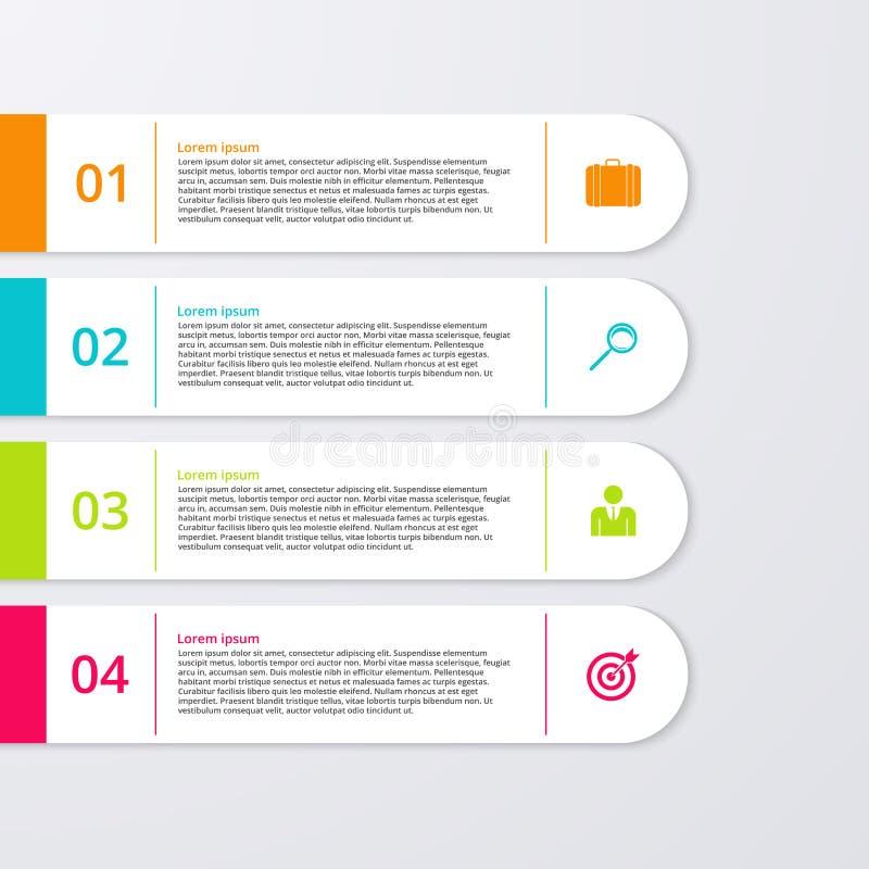Download Un'illustrazione Di Vettore Di Un Infographics Di Quattro Rettangoli Illustrazione Vettoriale - Illustrazione di moderno, immagine: 56888996