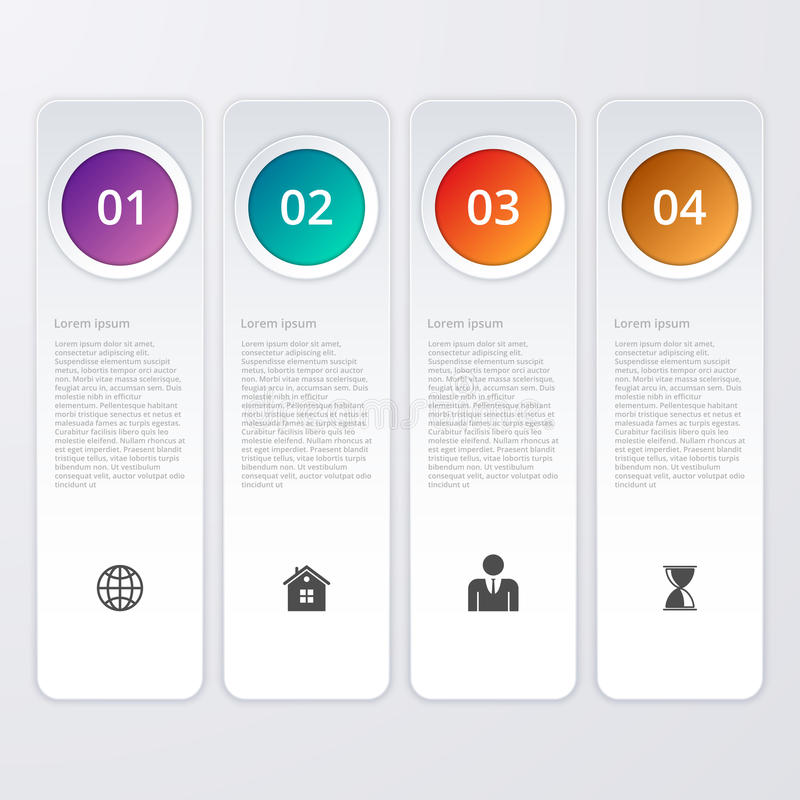 Download Un'illustrazione Di Vettore Di Un Infographics Di Quattro Rettangoli Illustrazione Vettoriale - Illustrazione di opzione, arte: 56890557