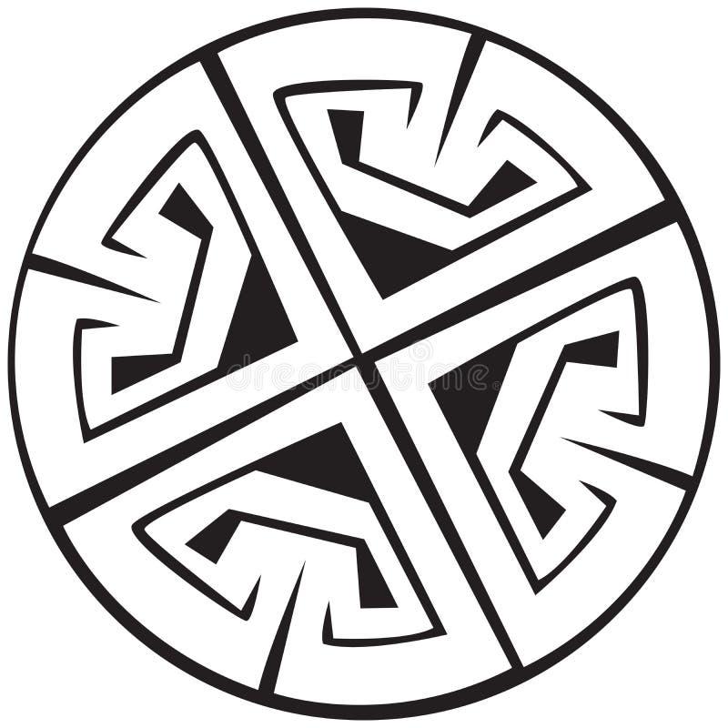 Un'illustrazione di vettore di un reticolo celtico illustrazione vettoriale