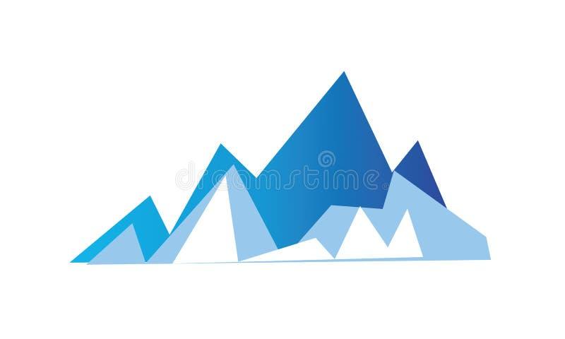 Un'immagine astratta semplice di una montagna in blu royalty illustrazione gratis