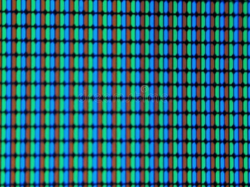 Un'immagine dei pixel dello schermo della TV, fotografia stock libera da diritti