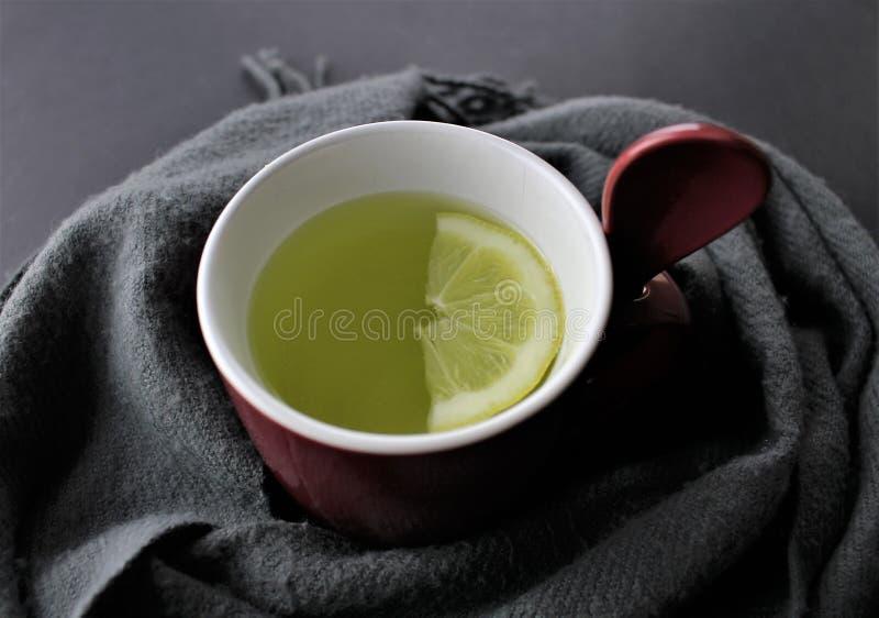 Un'immagine di un limone caldo - fondo confuso immagini stock libere da diritti