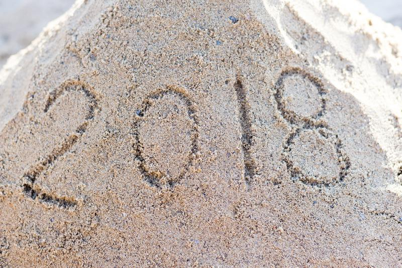Un'immagine di 2018 nuovi anni fotografie stock