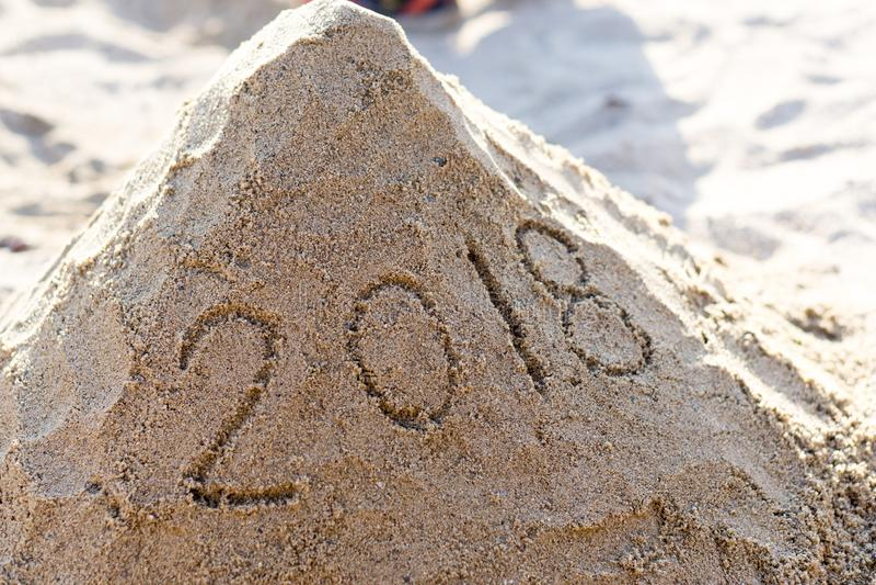 Un'immagine di 2018 nuovi anni fotografia stock