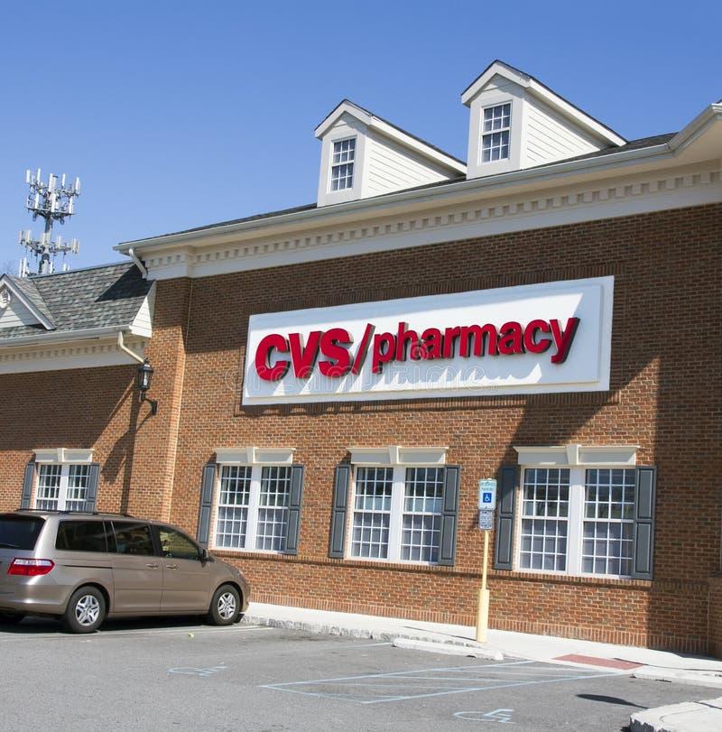 Pharmacie de CVS image libre de droits