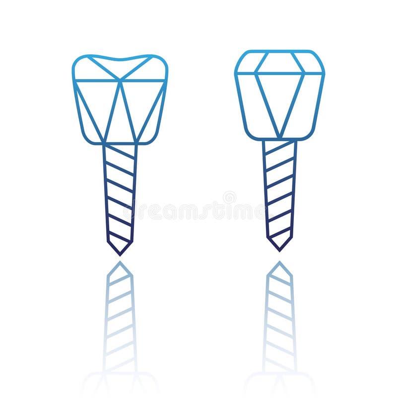 Un implant dentaire illustration de vecteur