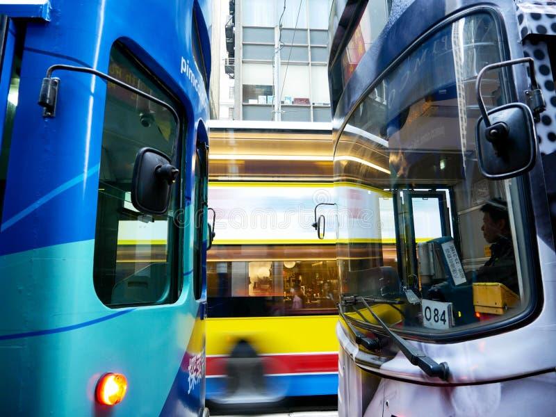 Un inceppamento del trasporto in Hong Kong fotografie stock