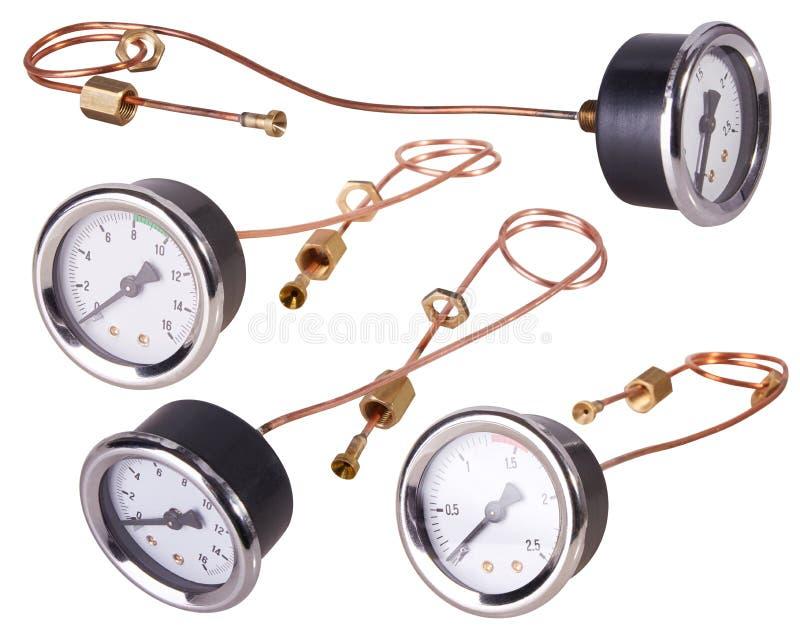 Un indicador de presión Equipo de medición de la presión de la barra fotos de archivo libres de regalías