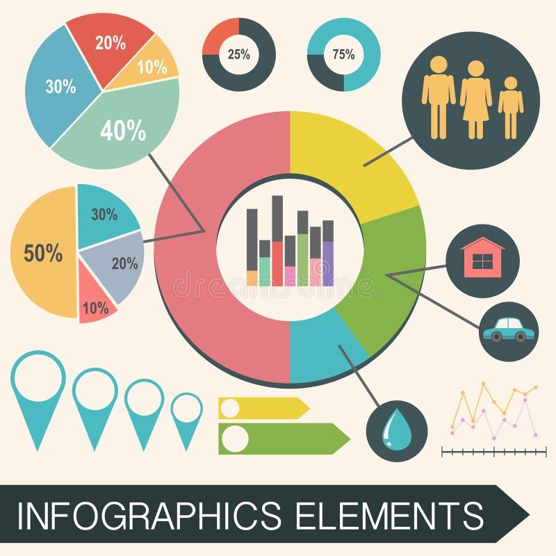 Un infochart con estadísticas stock de ilustración