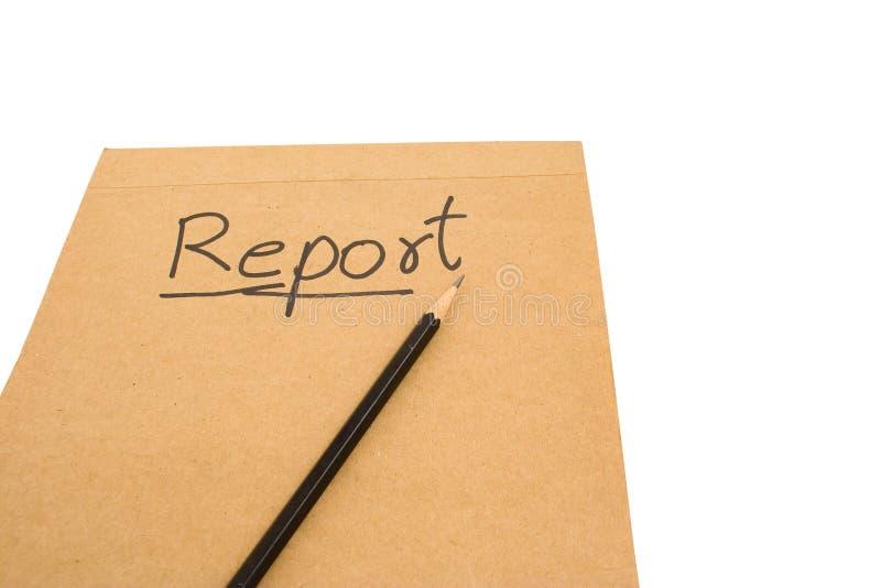 Un Informe Escrito. Fotos de archivo libres de regalías