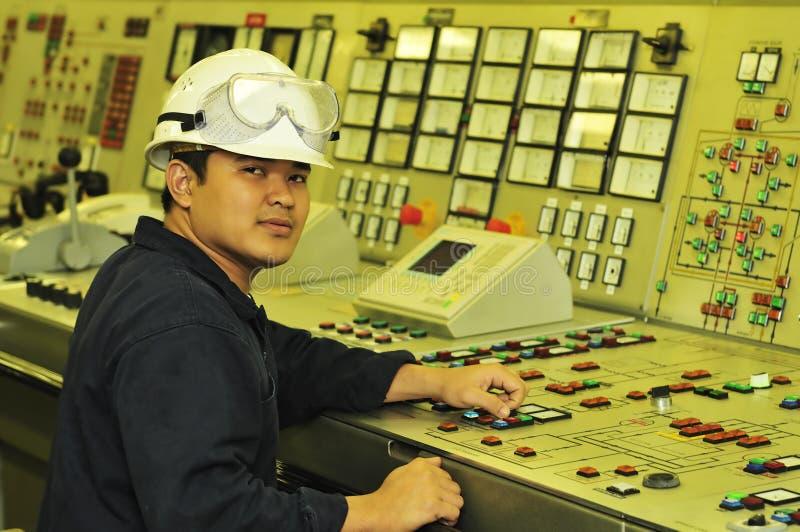 Un ingeniero del envío fotografía de archivo