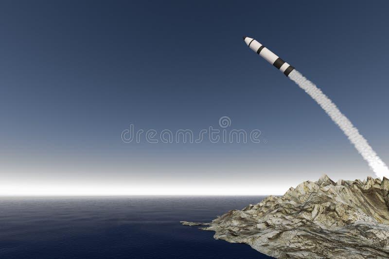 Un inizio del razzo illustrazione di stock