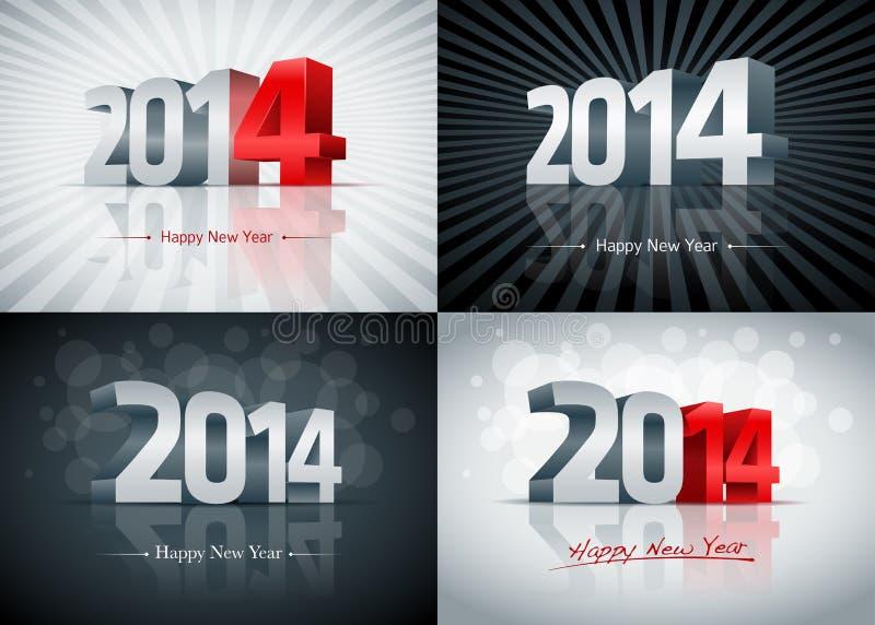 Un insieme da 2014 buoni anni illustrazione vettoriale
