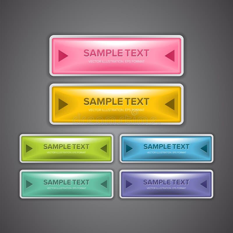 Bottoni lucidi di web illustrazione vettoriale