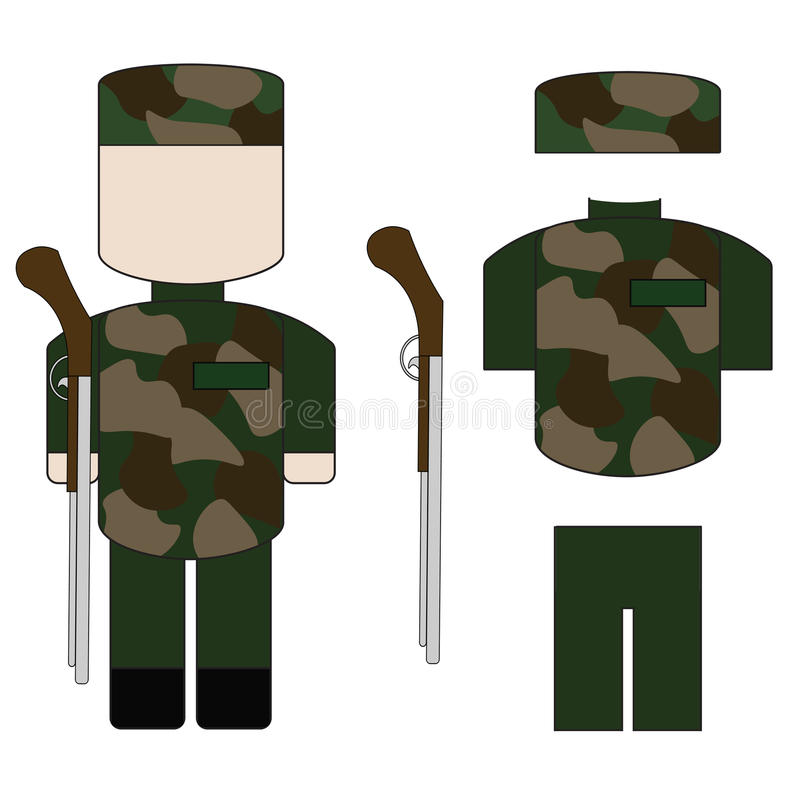 Un insieme dei militari immagine stock