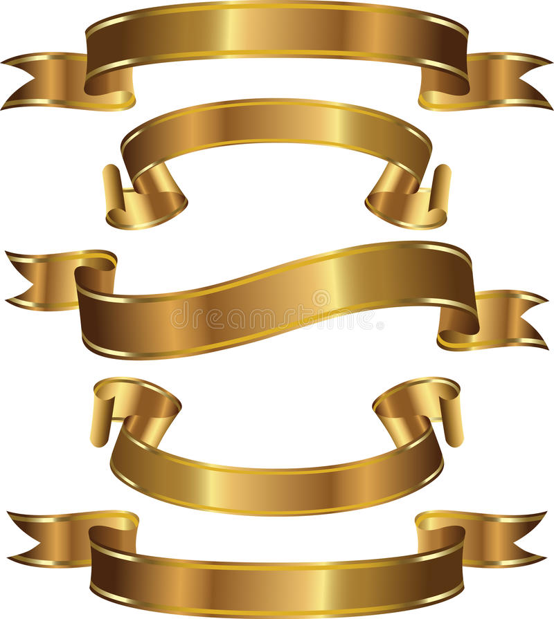 Un insieme delle bandiere dell'oro