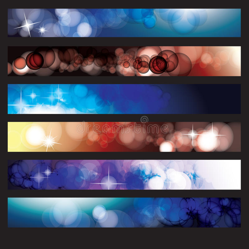 Un insieme delle bandiere di Web illustrazione vettoriale