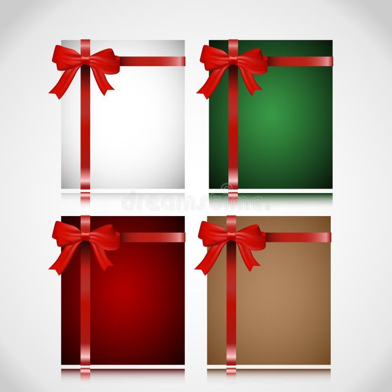 Un insieme delle cartoline di Natale royalty illustrazione gratis