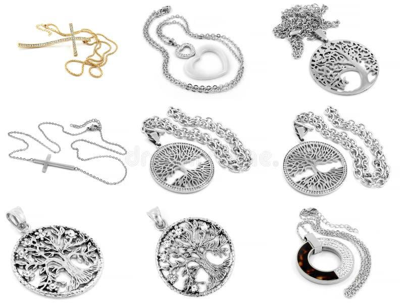 Un insieme delle collane delle foto - acciaio inossidabile royalty illustrazione gratis