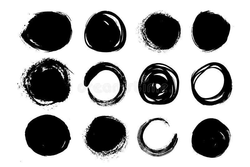 Un insieme delle forme dei telai dei cerchi Fondo di vettore isolato su fondo bianco illustrazione vettoriale