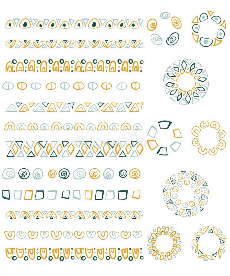 Un insieme delle spazzole su ordinazione Stile tribale royalty illustrazione gratis