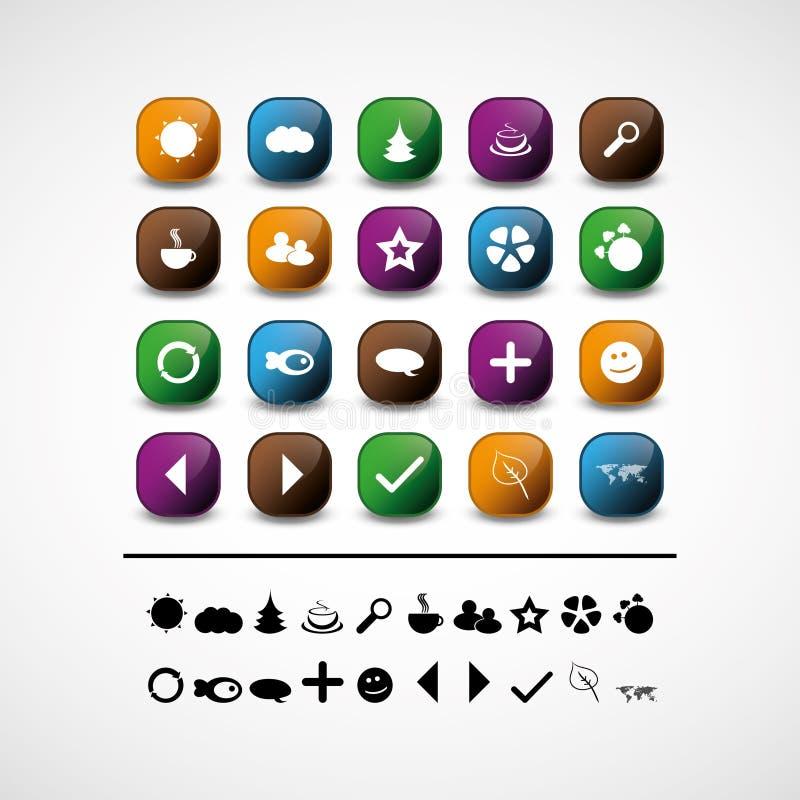 Un insieme di 20 icone di Web ed elementi di disegno illustrazione vettoriale