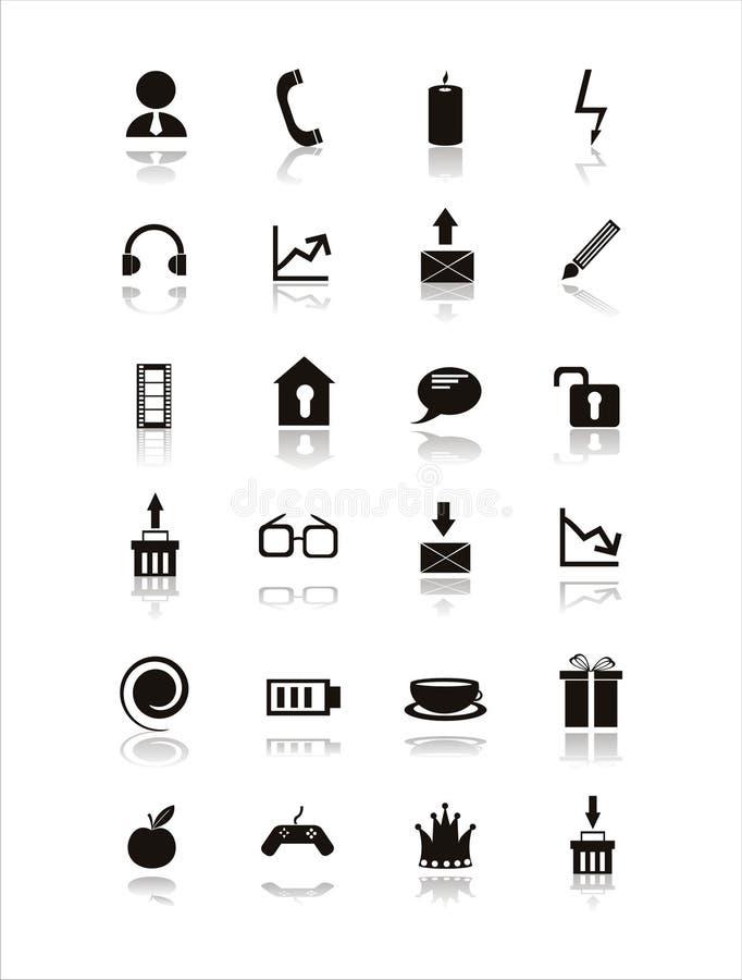 Un insieme di 21 segno di Web illustrazione di stock