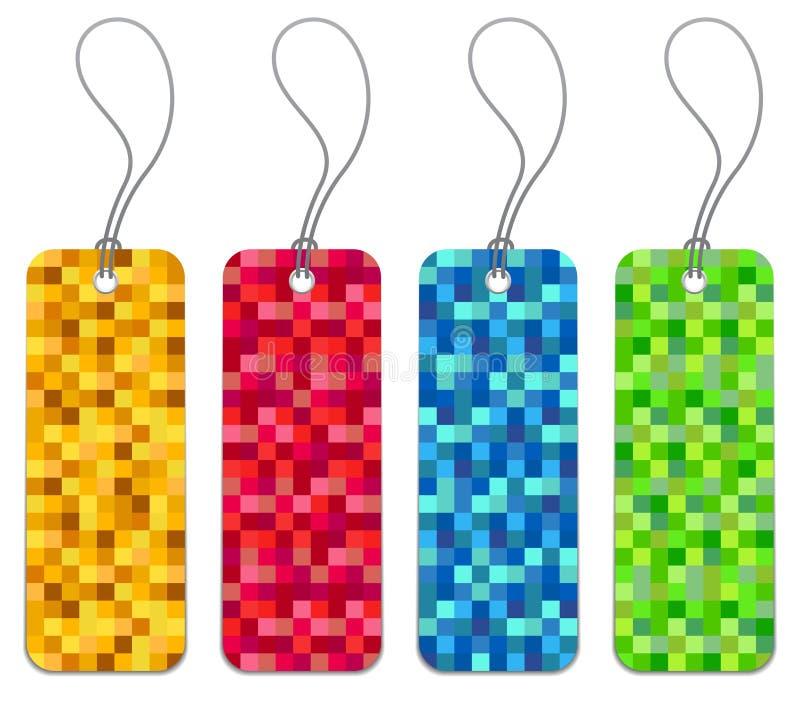 Un insieme di 4 modifiche checkered di acquisto illustrazione vettoriale