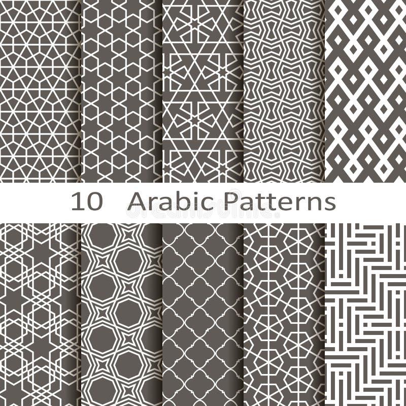Un insieme di dieci modelli arabi royalty illustrazione gratis