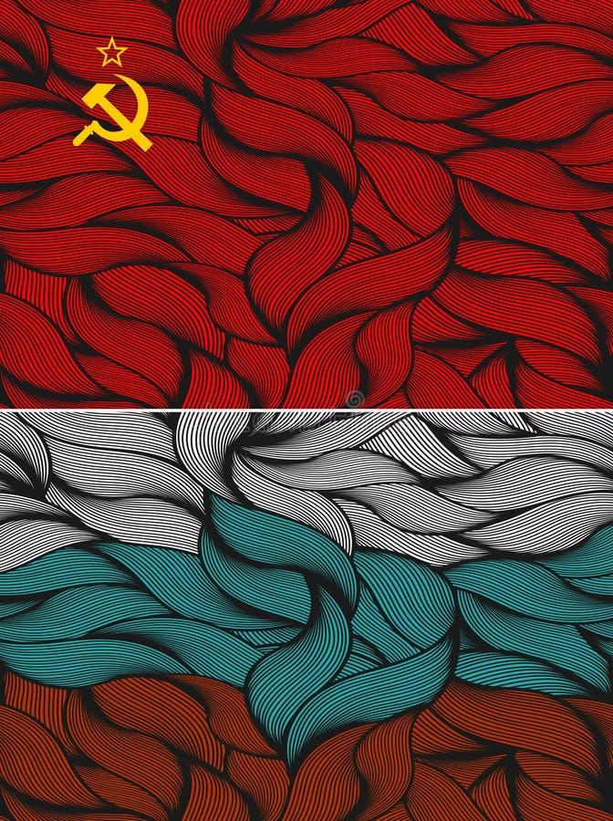 Un insieme di due bandiere illustrazione di stock