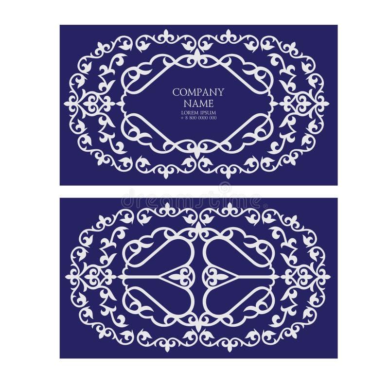 Un insieme di due carte dell'invito, i biglietti da visita, opuscoli ha fatto il usi royalty illustrazione gratis