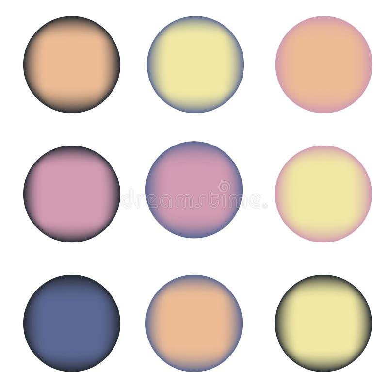 Download Un Insieme Di Nove Cerchi Variopinti Con Il Posto Per Testo Illustrazione Vettoriale - Illustrazione di cerchio, colpo: 55365358