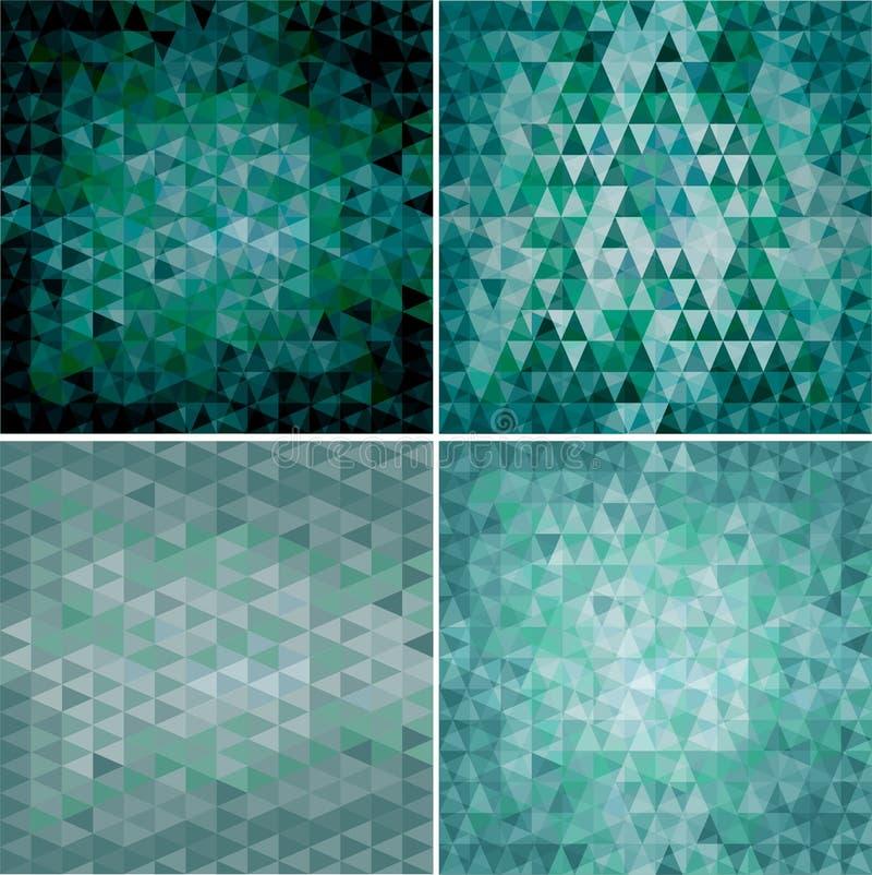Un insieme di quattro ambiti di provenienza triangolari illustrazione vettoriale