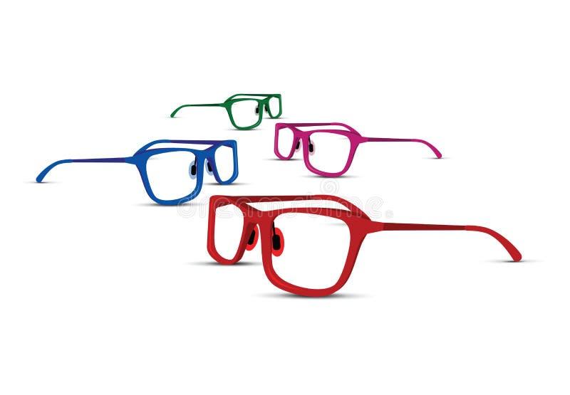 Un insieme di quattro vetri colourful illustrazione di stock