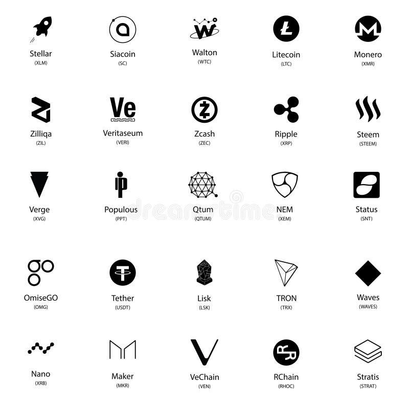 un insieme di 25 simboli nero illustrazione di stock
