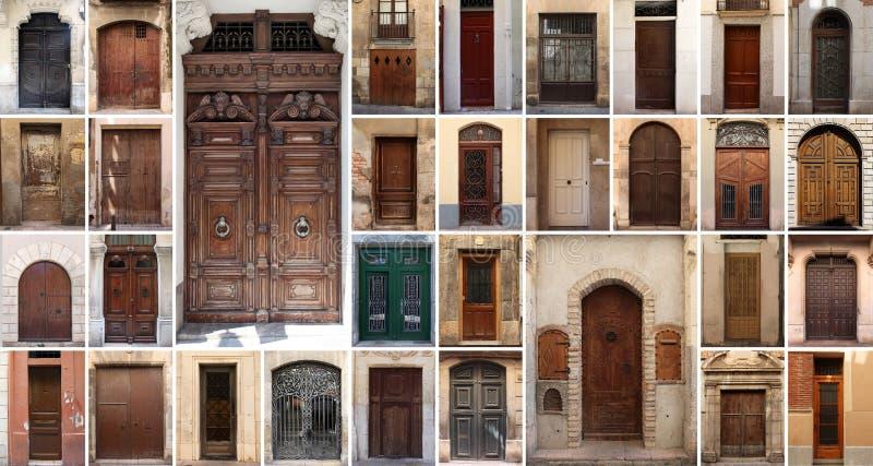 Un insieme di 32 vecchi porte e portoni fotografia stock for Mobilia e un insieme di