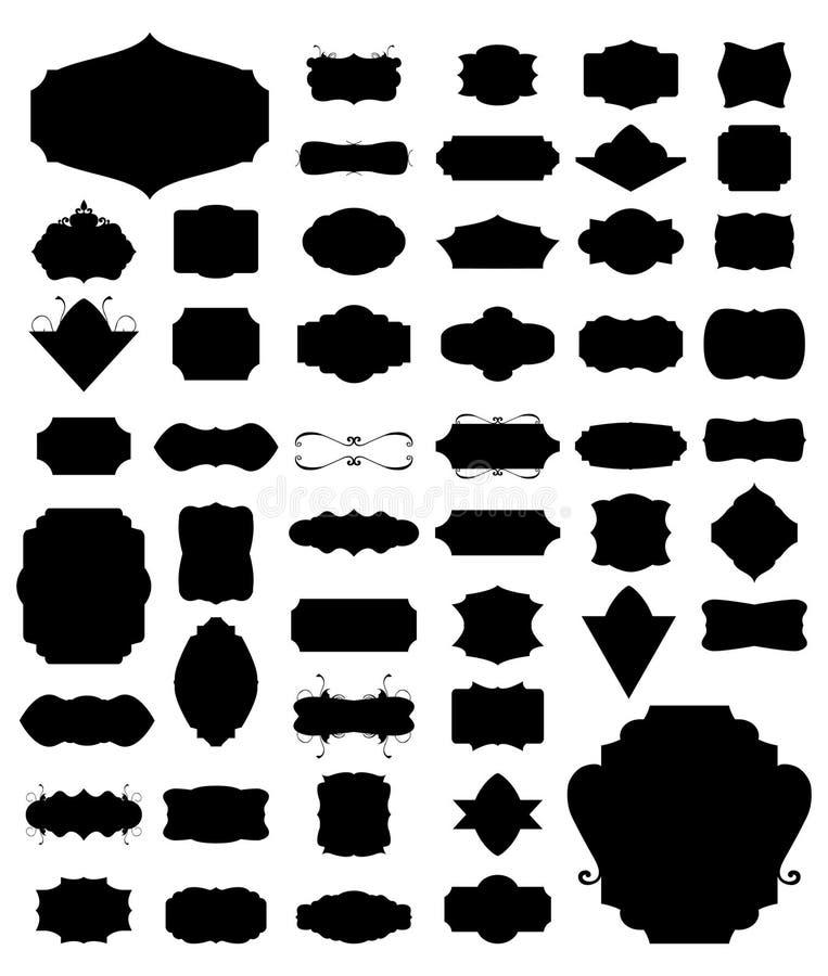 Un insieme di vettore di 50 telai royalty illustrazione gratis