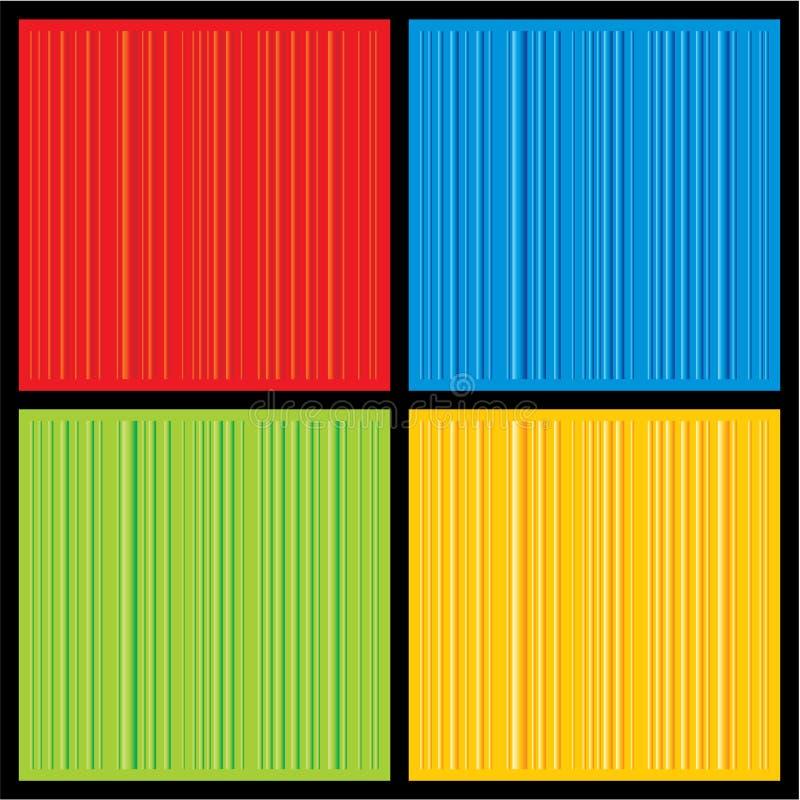 Un insieme quattro di colourfull 3D ha barrato il backgro di vettore illustrazione di stock