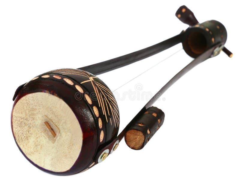 Un instrument de musique ficelé connu sous le nom d'Ektara image stock