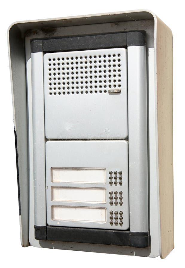 Un intercomunicador exterior viejo. imagen de archivo libre de regalías