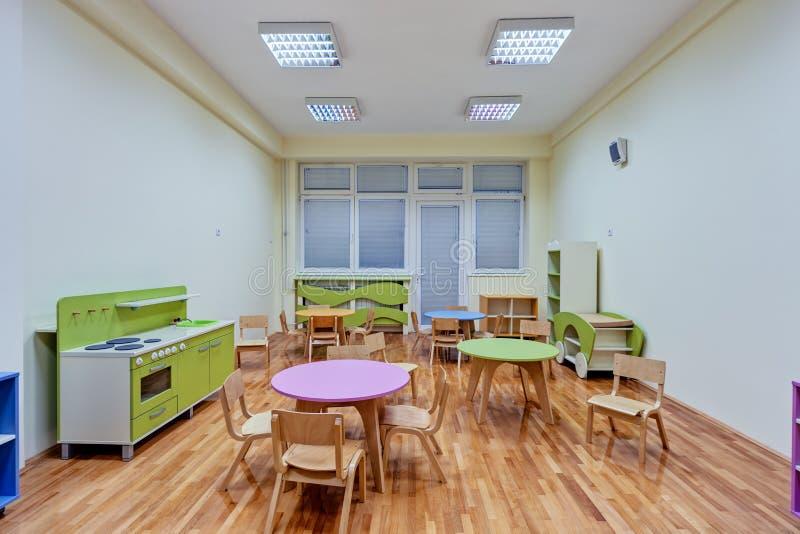 Un interior del preescolar fotos de archivo
